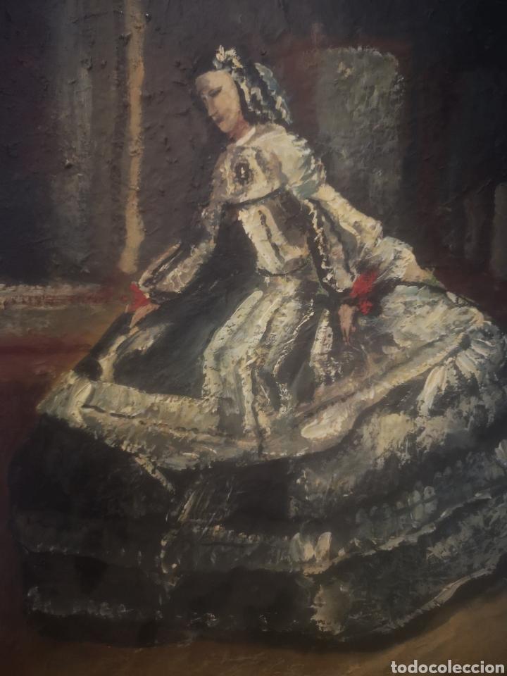 Arte: JUAN MUZ-MARTÍNEZ, menina según. Oleo sobre lienzo, firmado 33x41cm - Foto 2 - 217540183