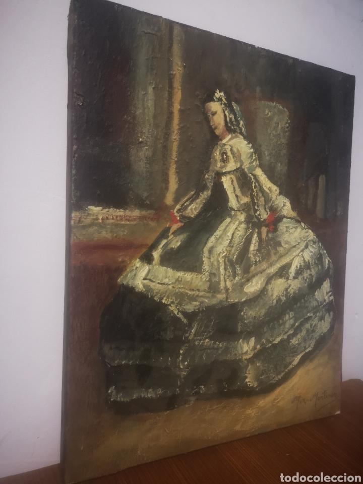 Arte: JUAN MUZ-MARTÍNEZ, menina según. Oleo sobre lienzo, firmado 33x41cm - Foto 4 - 217540183