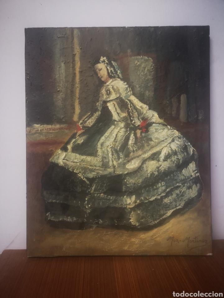 JUAN MUZ-MARTÍNEZ, MENINA SEGÚN. OLEO SOBRE LIENZO, FIRMADO 33X41CM (Arte - Pintura - Pintura al Óleo Contemporánea )