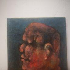Arte: EDGAR DEL CANTO, OLEO SOBRE LIENZO, RETRATO, SIN TITULO. EXCELENTE CALIDAD, 24X24CM. Lote 217547116