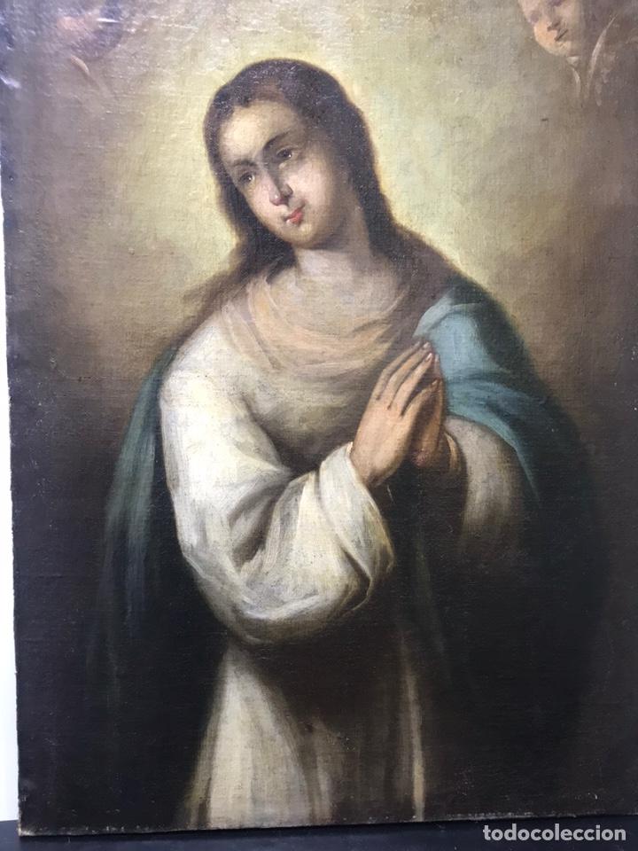 Arte: Excepcional óleo Virgen Inmaculada Siglo XVIII - Foto 4 - 217567238