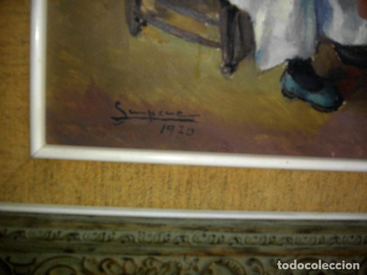 Arte: RAFAEL SEMPERE 1926 TIBI - 2009 VALENCIA ( OLEO SOBRE TABLILLA MADERA) 57 X 48 CTMS MARCO - Foto 3 - 217626368