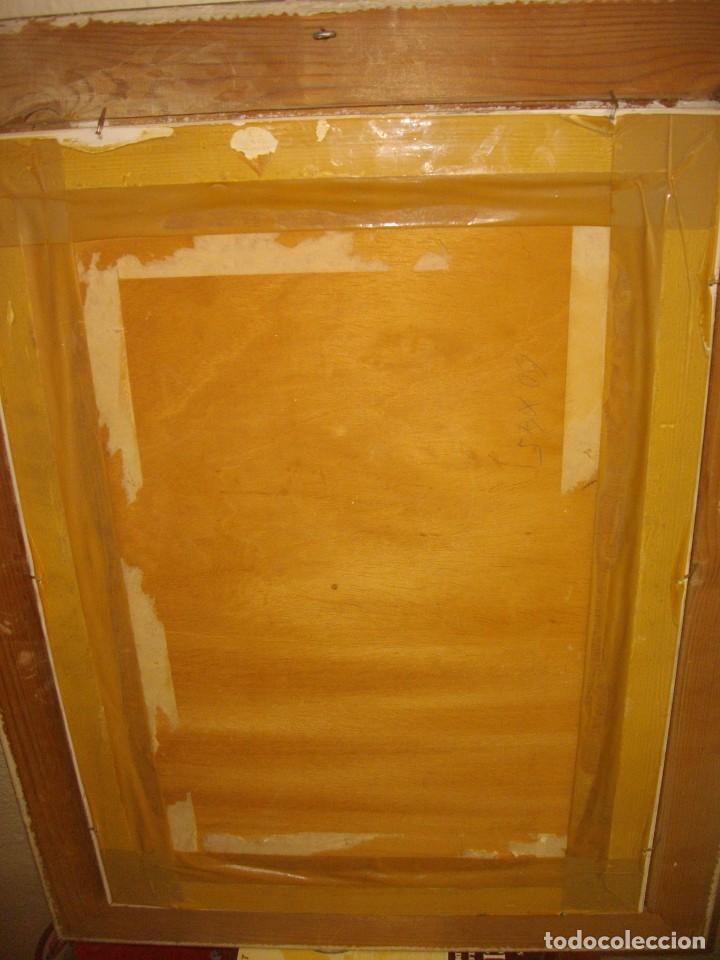 Arte: RAFAEL SEMPERE 1926 TIBI - 2009 VALENCIA ( OLEO SOBRE TABLILLA MADERA) 57 X 48 CTMS MARCO - Foto 4 - 217626368