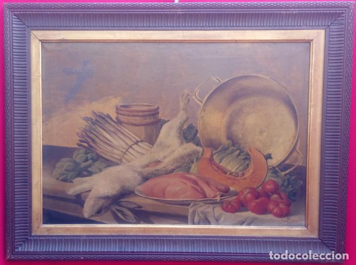 ÓLEO S/LIENZO CON DOBLE MARCO. AUTOR.- LUIS MURIEL Y LÓPEZ (1859-1919). DIM.- 101X76.5CMS. (Arte - Pintura - Pintura al Óleo Moderna siglo XIX)