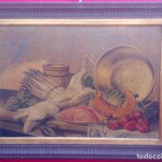 Arte: ÓLEO S/LIENZO CON DOBLE MARCO. AUTOR.- LUIS MURIEL Y LÓPEZ (1859-1919). DIM.- 101X76.5CMS.. Lote 217649173