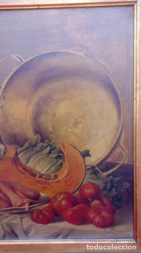 Arte: ÓLEO S/LIENZO CON DOBLE MARCO. AUTOR.- LUIS MURIEL Y LÓPEZ (1859-1919). DIM.- 101X76.5CMS. - Foto 6 - 217649173