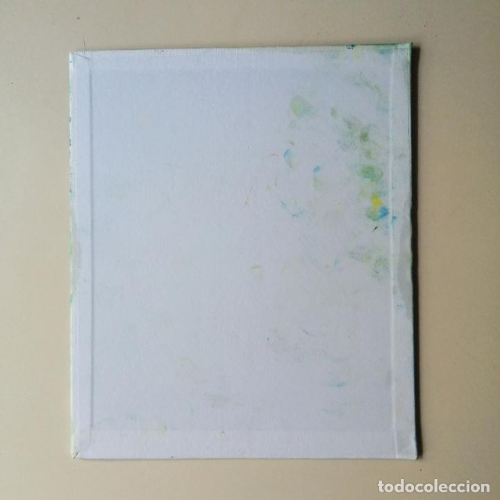 Arte: Cuadro, conejo blanco Pintura óleo sobre tablex entelado. - Foto 3 - 217740840