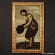 Arte: ANTIGUO CUADRO ITALIANO MENDIGO DEL SIGLO XVIII.. Lote 217766916