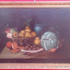 Arte: ÓLEO S/LIENZO, ENMARCADO. BODEGÓN SIGLO XVIII, EN BUEN ESTADO. DIM.- 95.5X74.5 CMS. ANÓNIMO.. Lote 155692434