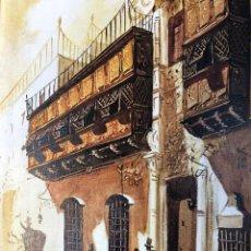 Arte: ARTE COLECCIONABLE. ESPECTACULAR PINTURA SANGUINA SOBRE LIENZO Y PINCEL DEL PALACIO DE TORRE TAGLE. Lote 217858597