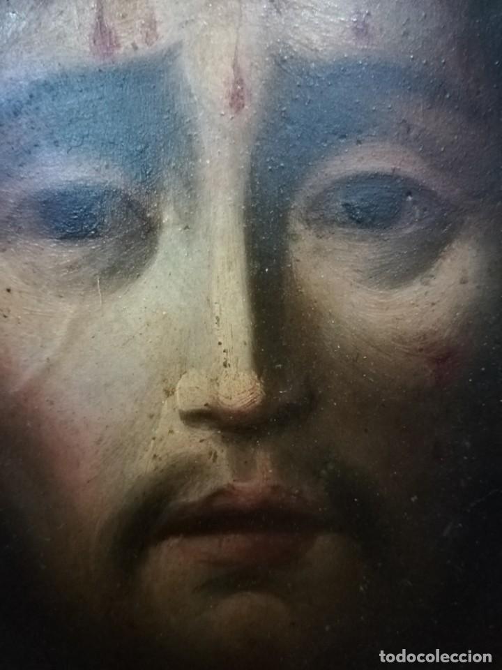 Arte: Magnifica cabeza de cristo pintado en cobre - Foto 4 - 217942812