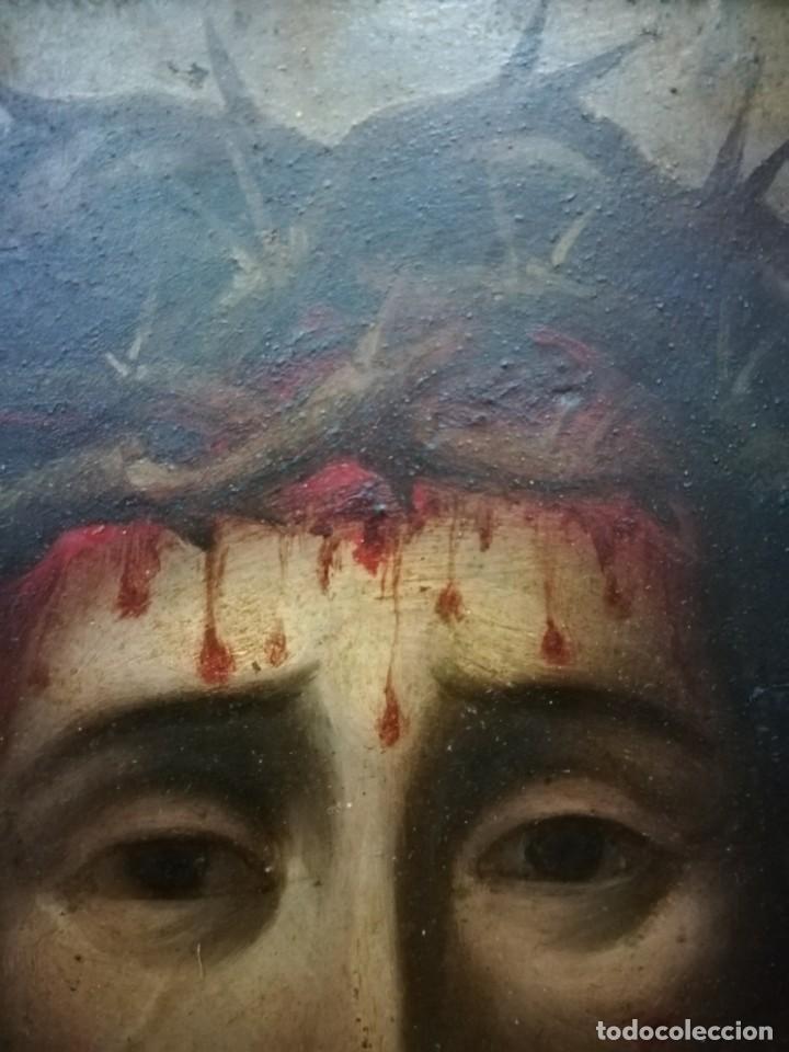 Arte: Magnifica cabeza de cristo pintado en cobre - Foto 5 - 217942812