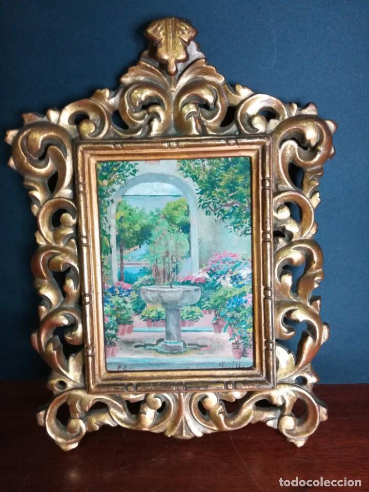 PATIO SEVILLANO (Arte - Pintura - Pintura al Óleo Moderna siglo XIX)