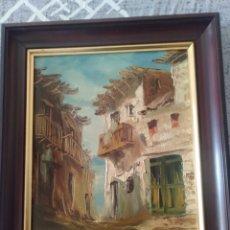 Arte: CASAS DE PLAYA AL OLEO 1986. CUADRO FIRMADO.. Lote 217996383