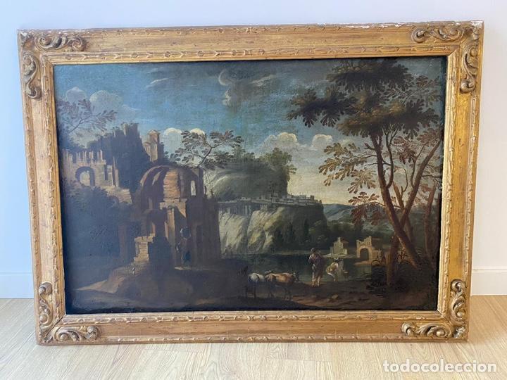 PAISAJE ESCUELA MALLORQUINA SIGLO XVII (Arte - Pintura - Pintura al Óleo Antigua siglo XVII)