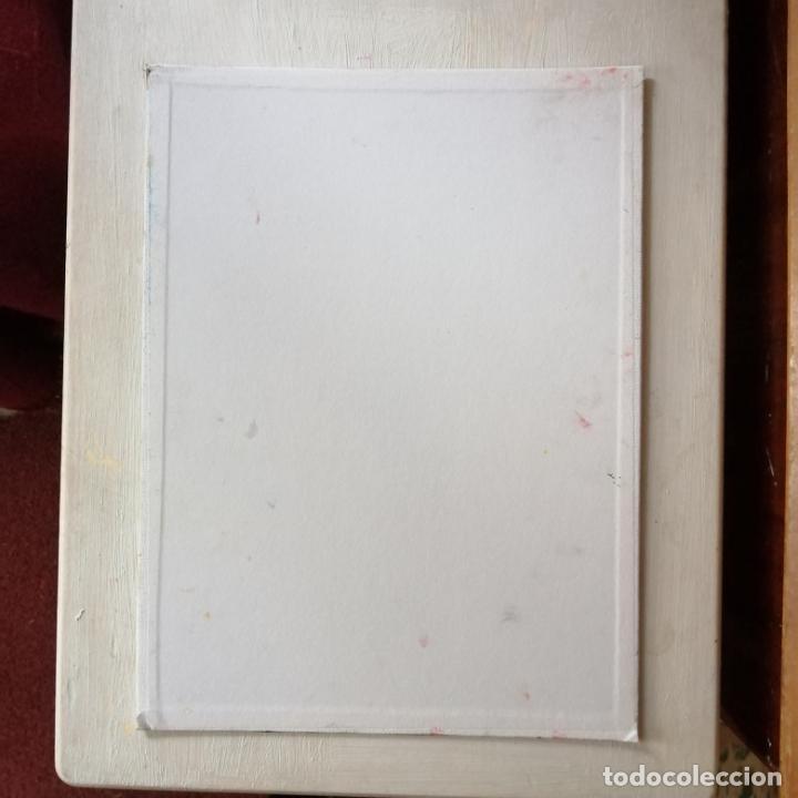 Arte: Cuadro, Pintura óleo sobre tablex entelado, gato persa blanco. 40 x 30 cmtrs. - Foto 3 - 218108752