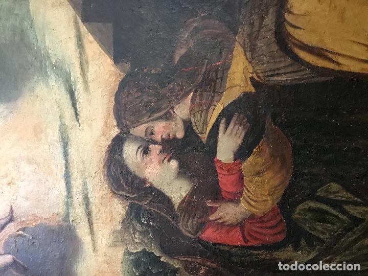 """Arte: óleo de grandes dimensiones del siglo XVIII """"La visitación"""" - Foto 2 - 218108845"""