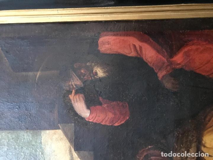 """Arte: óleo de grandes dimensiones del siglo XVIII """"La visitación"""" - Foto 3 - 218108845"""