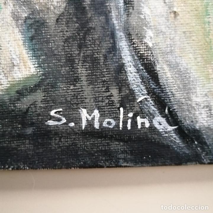 Arte: Cuadro, Pintura óleo sobre tablex entelado, gato persa blanco. 40 x 30 cmtrs. - Foto 5 - 218108752