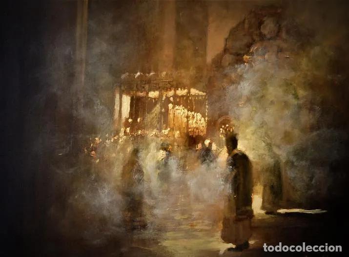 PINTURA AL OLEO RELIGIOSA SEMANA SANTA SEVILLA (Arte - Pintura - Pintura al Óleo Contemporánea )