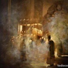 Arte: PINTURA AL OLEO RELIGIOSA SEMANA SANTA SEVILLA. Lote 218341317