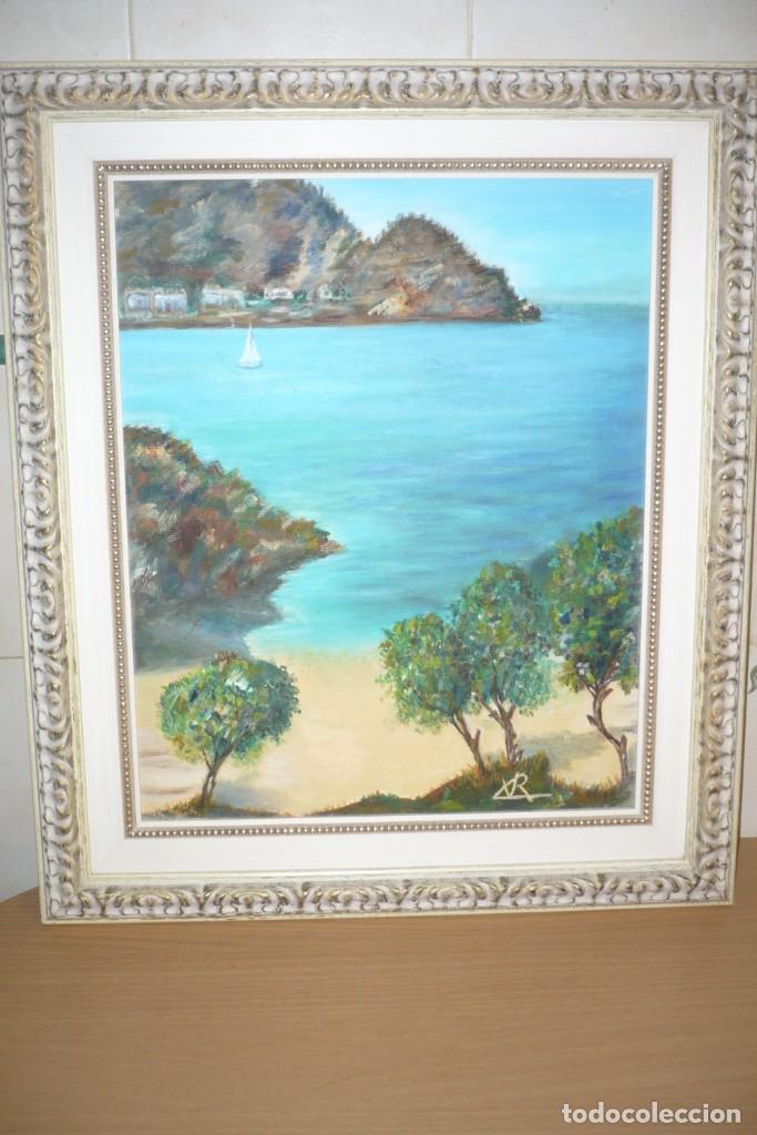 Arte: Oleo sobre Lienzo. Marina. Firmada Rx - Foto 3 - 218343158