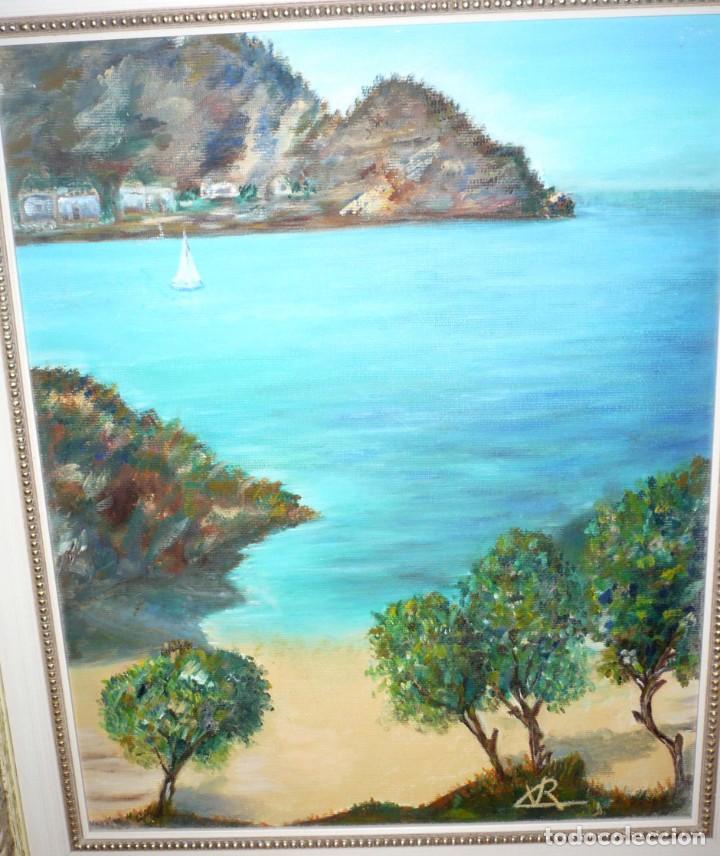Arte: Oleo sobre Lienzo. Marina. Firmada Rx - Foto 4 - 218343158