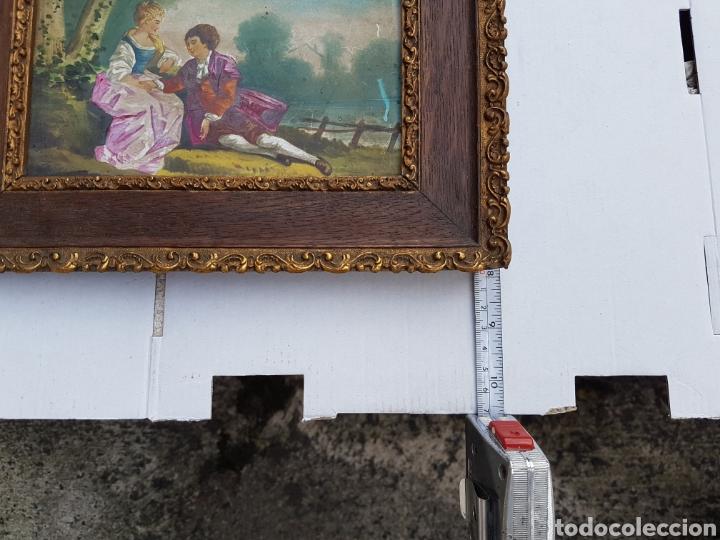 Arte: Cuadro antiguo escena galante siglo XVIII XIX aprox - Foto 11 - 218447715