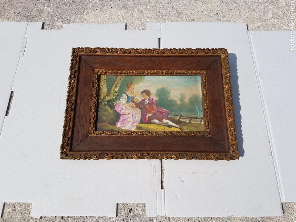 CUADRO ANTIGUO ESCENA GALANTE SIGLO XVIII XIX APROX (Arte - Pintura - Pintura al Óleo Antigua siglo XVIII)