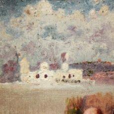 Arte: JOAN ROIG SOLER (BARCELONA, 1852 - 1909) OLEO SOBRE TELA. APUNTES. Lote 218456323