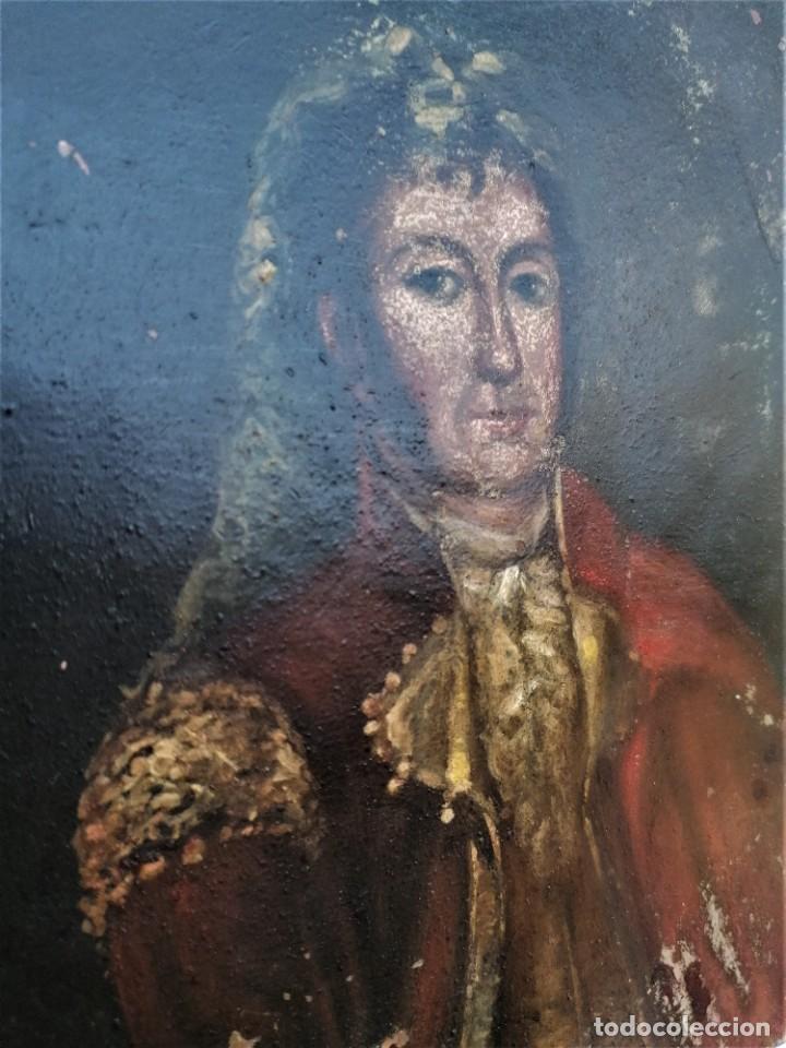 Arte: TAUROMAQUIA,PINTURA ESPAÑOLA,OLEO SOBRE COBRE,SIGLO XVIII,TORERO.EPOCA FRANCISCO DE GOYA.TOROS..... - Foto 2 - 218604258