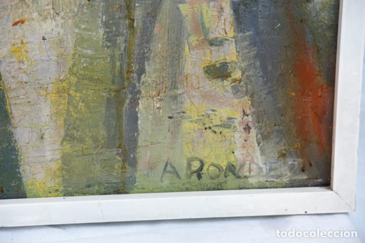 Arte: Oleo sobre lienzo abstracto. Cubismo. Firmado. Enmarcado. - Foto 3 - 218630793