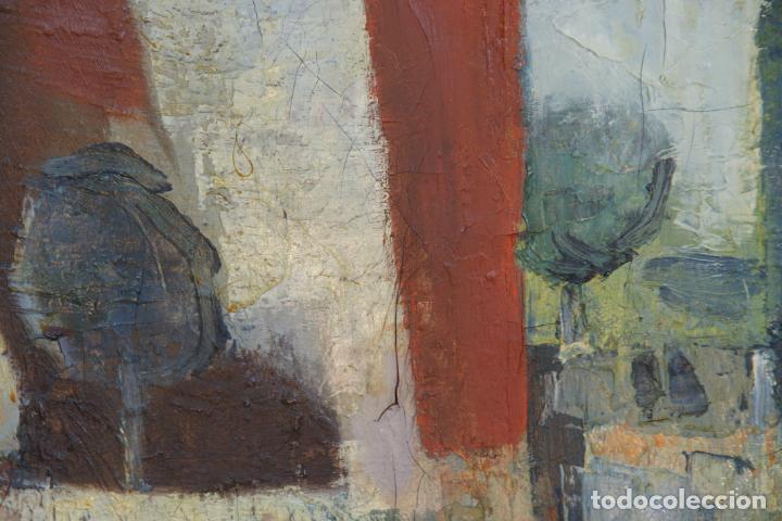 Arte: Oleo sobre lienzo abstracto. Cubismo. Firmado. Enmarcado. - Foto 4 - 218630793