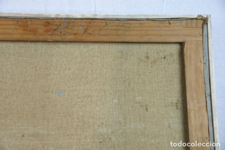 Arte: Oleo sobre lienzo abstracto. Cubismo. Firmado. Enmarcado. - Foto 8 - 218630793
