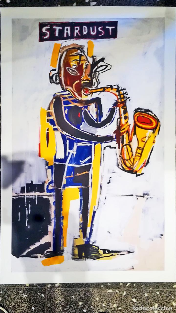 Arte: Obra de Jean-Michel-Basquiat - Stardust Graffiti - lienzo para decoración sin marco Tamaño 100 X 70 - Foto 2 - 218649773