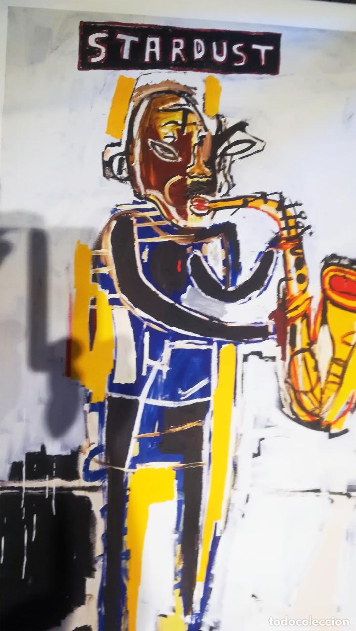 Arte: Obra de Jean-Michel-Basquiat - Stardust Graffiti - lienzo para decoración sin marco Tamaño 100 X 70 - Foto 3 - 218649773