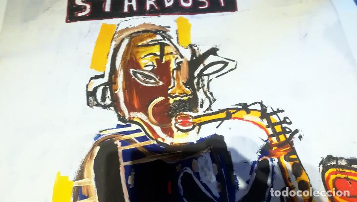 Arte: Obra de Jean-Michel-Basquiat - Stardust Graffiti - lienzo para decoración sin marco Tamaño 100 X 70 - Foto 4 - 218649773