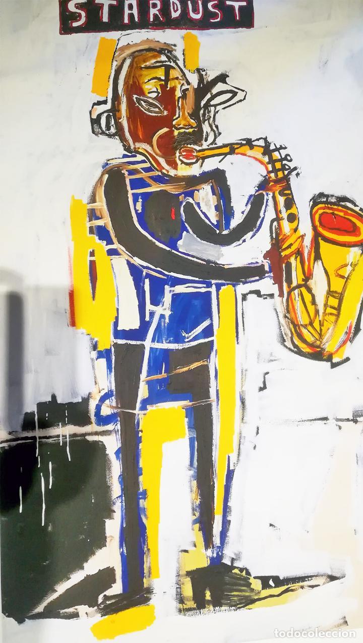 Arte: Obra de Jean-Michel-Basquiat - Stardust Graffiti - lienzo para decoración sin marco Tamaño 100 X 70 - Foto 5 - 218649773
