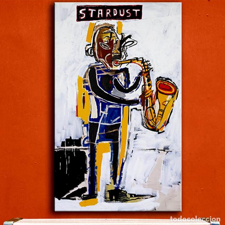 OBRA DE JEAN-MICHEL-BASQUIAT - STARDUST GRAFFITI - LIENZO PARA DECORACIÓN SIN MARCO TAMAÑO 100 X 70 (Arte - Pintura - Pintura al Óleo Contemporánea )