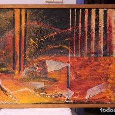 Arte: GERMÁN BELTRÁN - ABSTRACCIÓN - 106X80CM ENMARCADO - ÓLEO SOBRE LIENZO. Lote 218680737