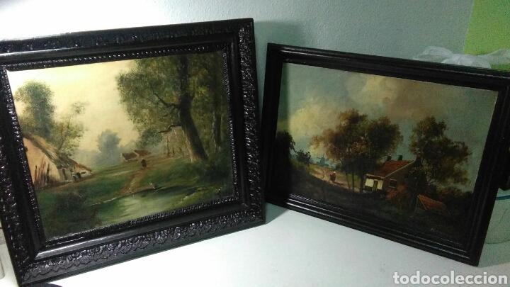 Arte: Pintura antigua oleo sobre tabla pisajes finales siglo XIX - Foto 2 - 218694103