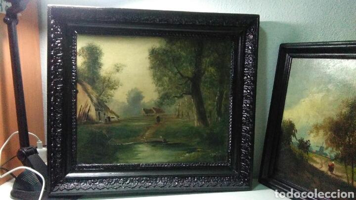 Arte: Pintura antigua oleo sobre tabla pisajes finales siglo XIX - Foto 3 - 218694103