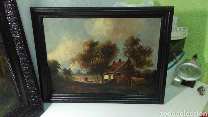 Arte: Pintura antigua oleo sobre tabla pisajes finales siglo XIX - Foto 4 - 218694103