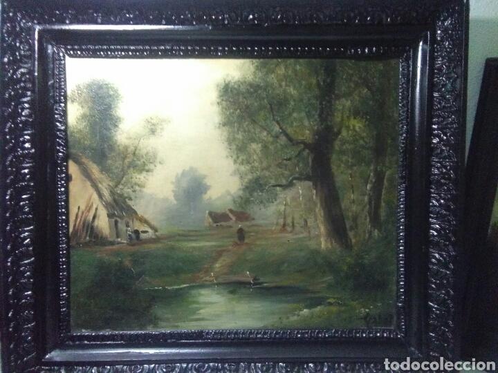 Arte: Pintura antigua oleo sobre tabla pisajes finales siglo XIX - Foto 5 - 218694103