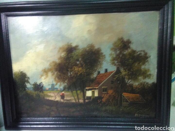 Arte: Pintura antigua oleo sobre tabla pisajes finales siglo XIX - Foto 6 - 218694103