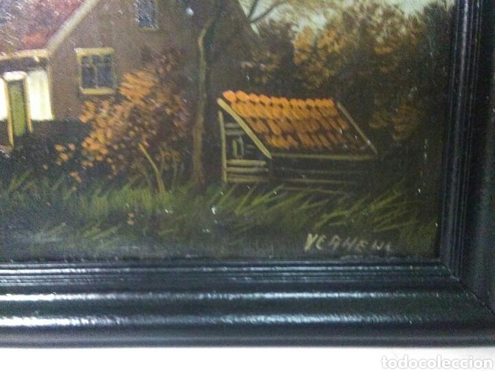 Arte: Pintura antigua oleo sobre tabla pisajes finales siglo XIX - Foto 7 - 218694103