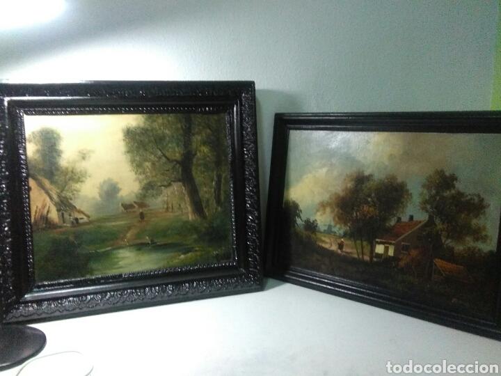 Arte: Pintura antigua oleo sobre tabla pisajes finales siglo XIX - Foto 9 - 218694103