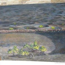 Arte: OLEO SOBRE TABLERO DE TIERRAS VOLCANICAS. Lote 218697902