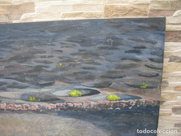 Arte: OLEO SOBRE TABLERO DE TIERRAS VOLCANICAS - Foto 3 - 218697902