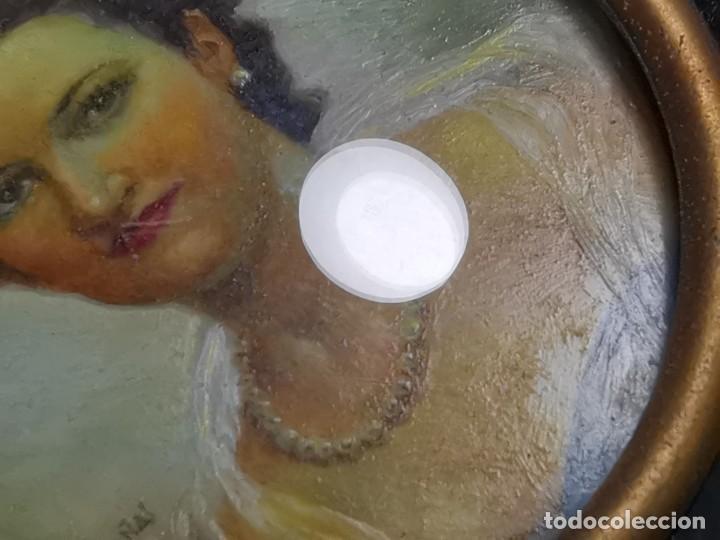 Arte: RETRATO DAMA OLEO MINIATURA INICIOS SIGLO XX...FIRMADO SALVADOR CASANAS-CASAÑAS-gran calidad - Foto 26 - 218724545